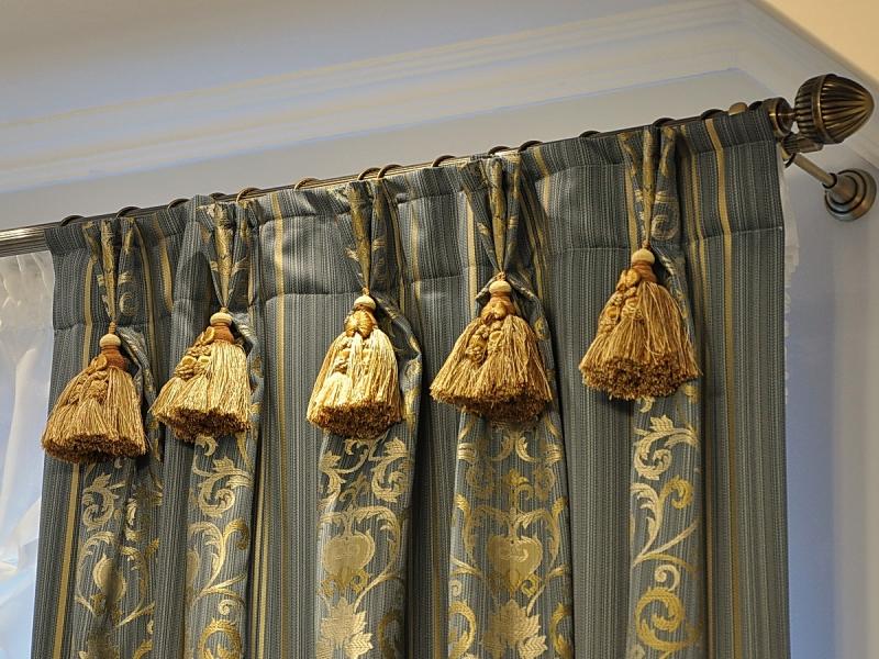 Как украсить шторы бахромой: 6 этапов