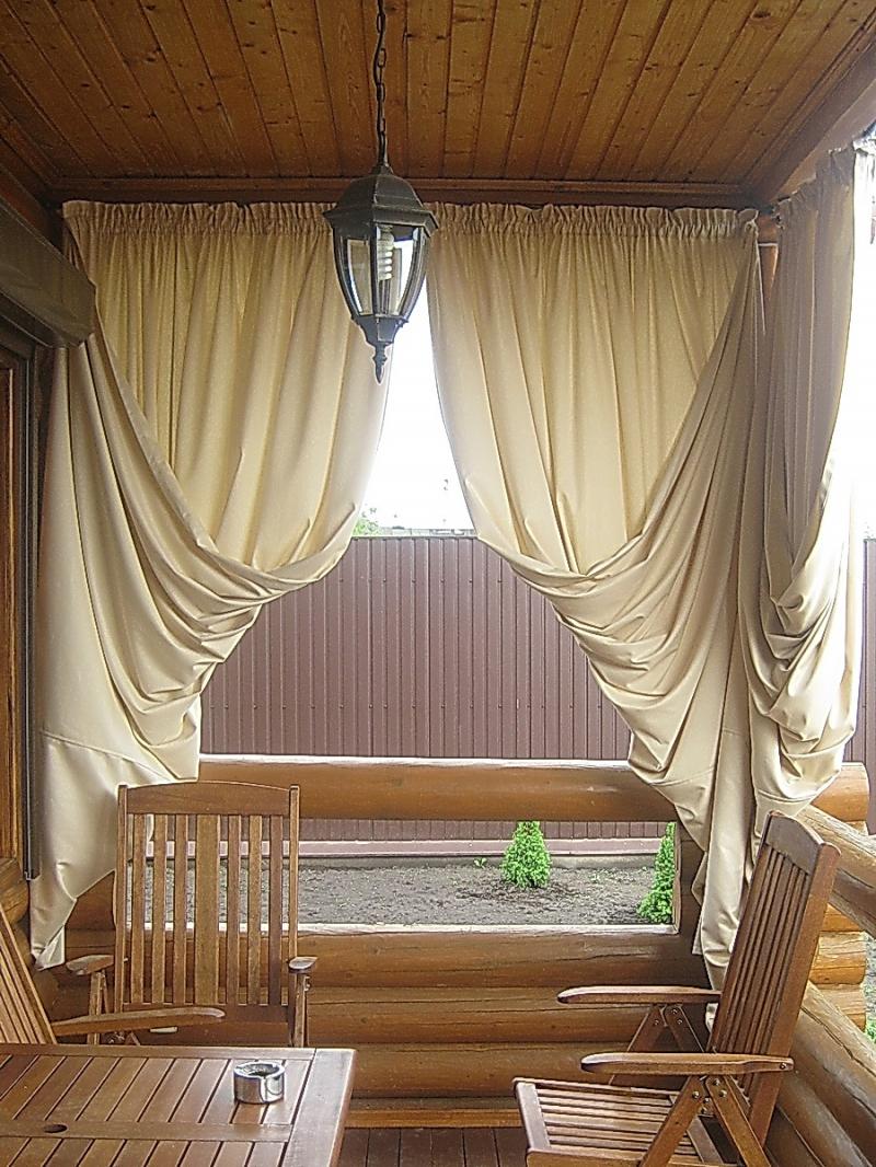 Как сделать шторы для веранды